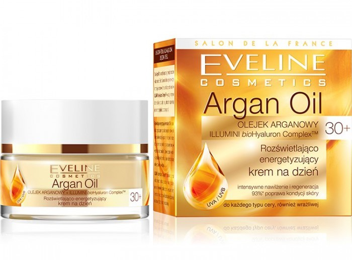 Argan Oil Illuminating Energizing Day Cream 30+ by Eveline Cosmetics