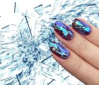 shattered, glass, manicure, nails